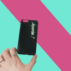(only you) neon initials case
