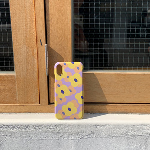purple yellow flower case